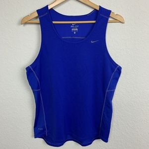 Nike Woman Tank Top Sport Blue Sz: M